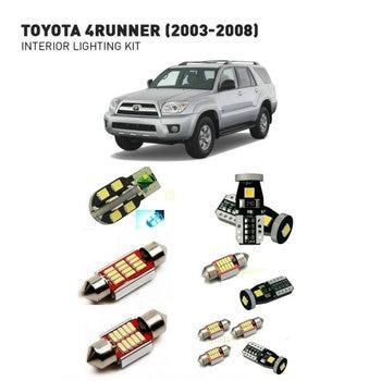 Led interior lights For Toyota 4runner 2003-2008  19pc Led Lights For Cars lighting kit automotive bulbs Canbus
