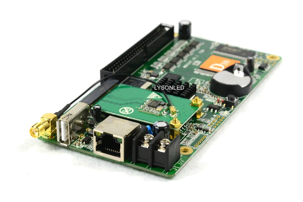 Huidu HD-D30 +WIFI +HUB75E-5 RGB LED Video Card 512*128 Pixels,Smart Setting Compatiable With P2 P2.5 P3 P4 P5 P8 P10 LED Module