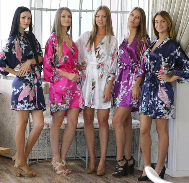 floral dressing gowns for bridesmaids
