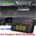 "Auto 5.5 ""Brisas Projetor HUD Head Up Display OBD II Carro De Diagnóstico de Dados 205 206 207 208 3008 301 306 307 308 4007 607 508"