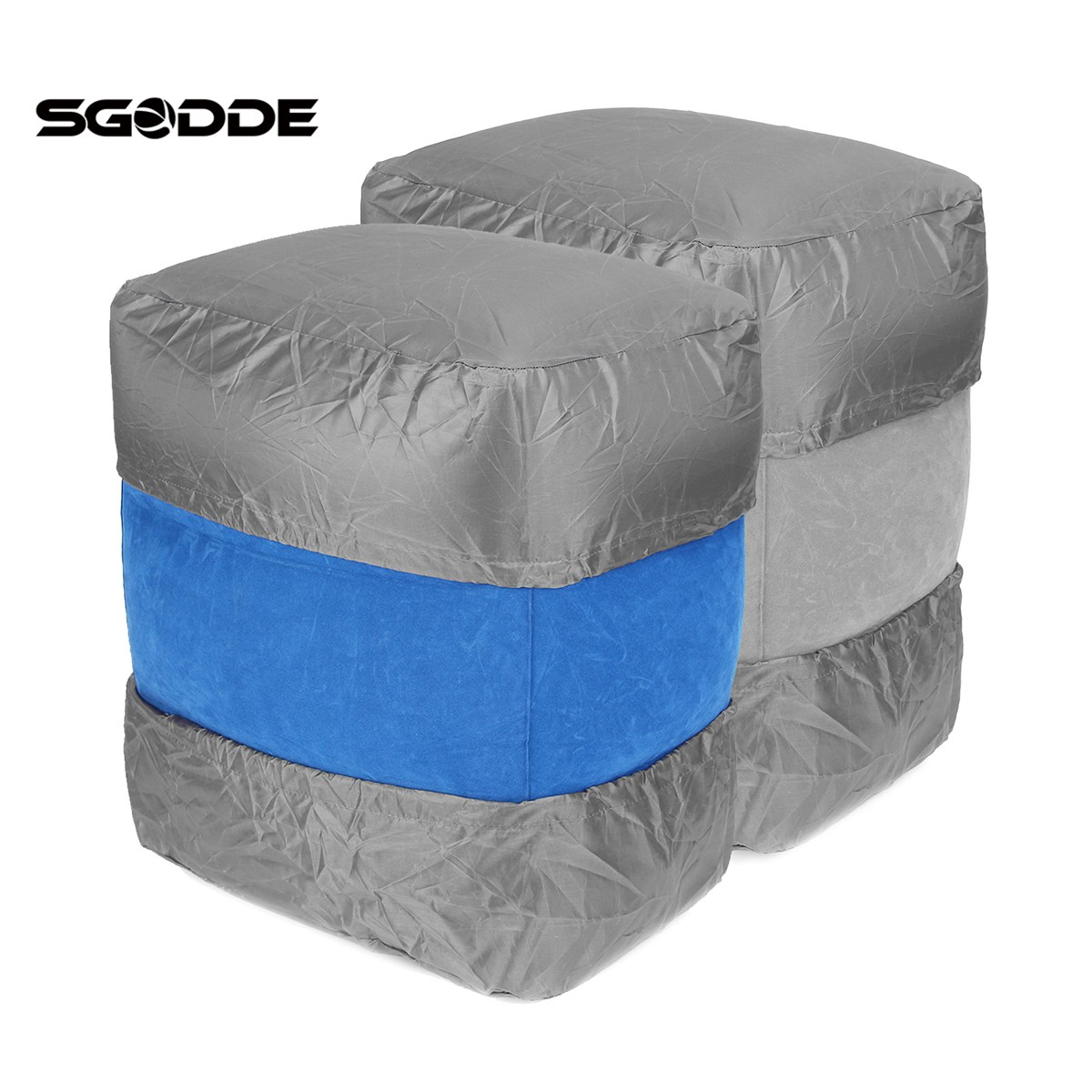 SGODDE Convenient Children Cars Airplane Inflatable Travel Footrest Parallel Seat Sleep Pillow for Outdoor Rest Tools