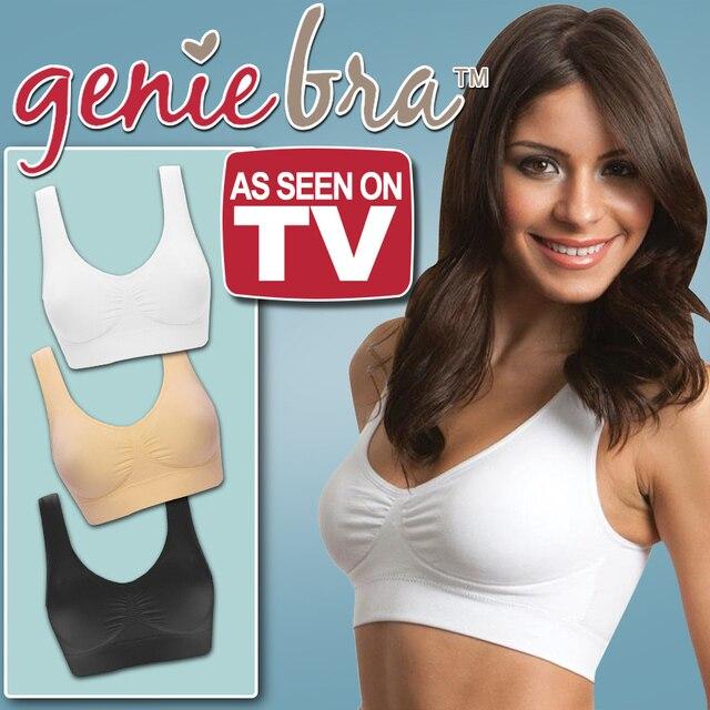ee965a459b Sexy Genie Bra Large Size Women Bralette Crop Top Orange Seamless Sports Bra  85e Pink Fitness Push Up Bralet Black Bralette Set