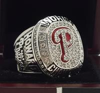 2008 Philadelphia Phillies MLB World Seires Championship Ring 7 15 Size Copper Solid Engraved Inside
