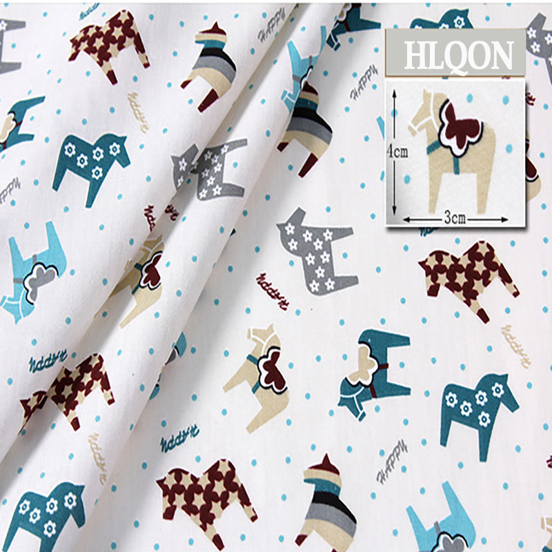 New Arrival Imported 100%cotton horse print fabric for children cloth brocade fabrics DIY Sewing Craft Cloth bY one meter