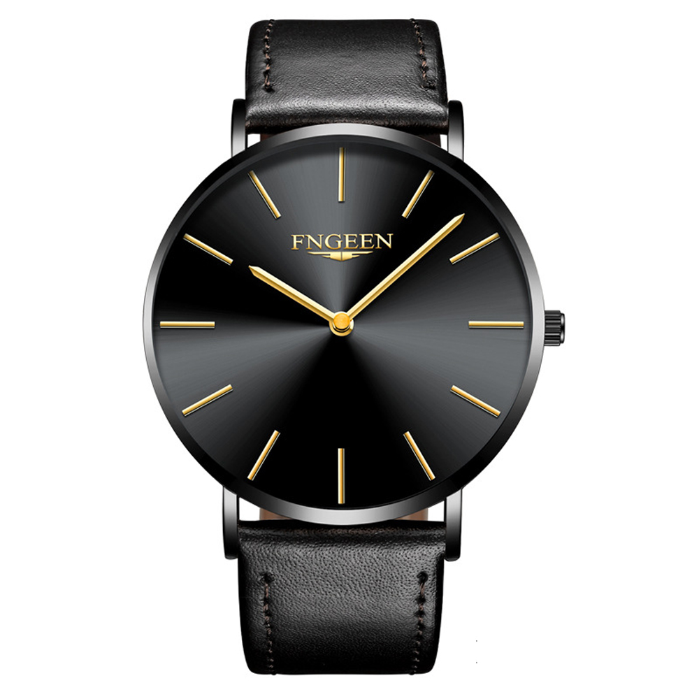 FNGEEN Watch Female Hour 2018 Fashion Ultra Slim Steel Mesh Quartz Watch Women Clock Hodinky Simple Business Black Women's Watch 5