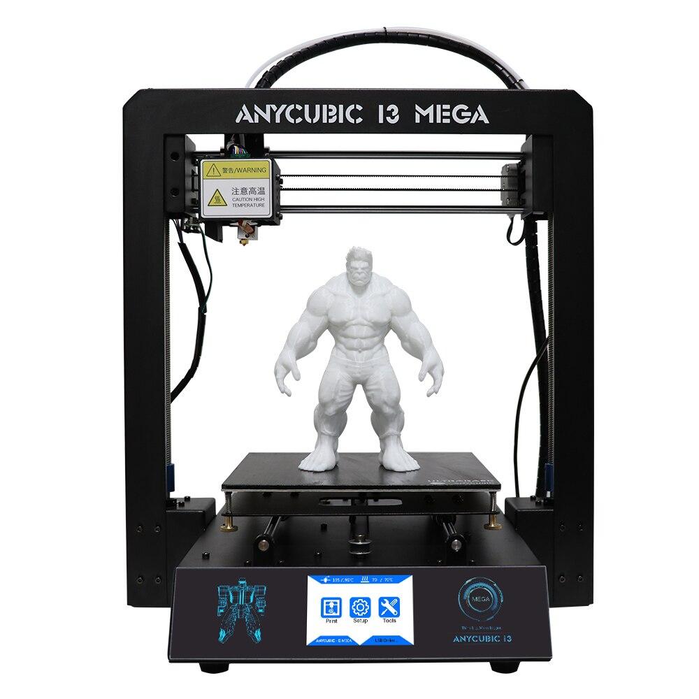 Anycubic 3D принтер impresora 3D I3 Мега металлический imprimante 3D Высокая точность запатентованная решетки платформа 3D Принтер Комплект