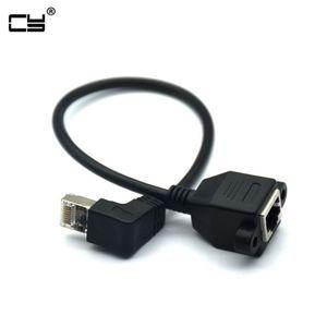 30 см вверх вниз прямоугольный 90 градусов 8P8C FTP STP UTP Cat5 RJ45 с винтом Lan Ethernet Сетевой удлинитель Кабель 1ft 60 см 100 см 1 м