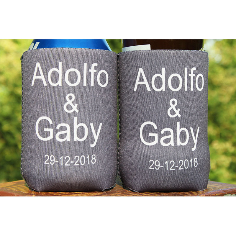 500pcs Collapsible Can Cooler Custom Logo Foldable Stubby Holder 3mm Thickness Neoprene Beer Can Cooler Bag Picnic Bags in Cooler Bags from Luggage Bags