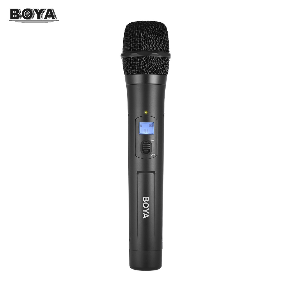 BOYA BY-WHM8 UHF Wireless Handheld Microphone Dynamic Mic with 48UHF Channels Workfor Karaoke Interview Meeting Audio Recording boya by whm8 professional 48 uhf microphone dual channels wireless handheld mic system lcd display for karaoke party liveshow
