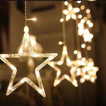 SICCSAEE 2.5M 138 led star string lights Christmas fairy light garland led curtain for wedding home party birthday decoration 5m 20 led moon solar string lights outdoor fairy light string for christmas home wedding party bedroom birthday decoration