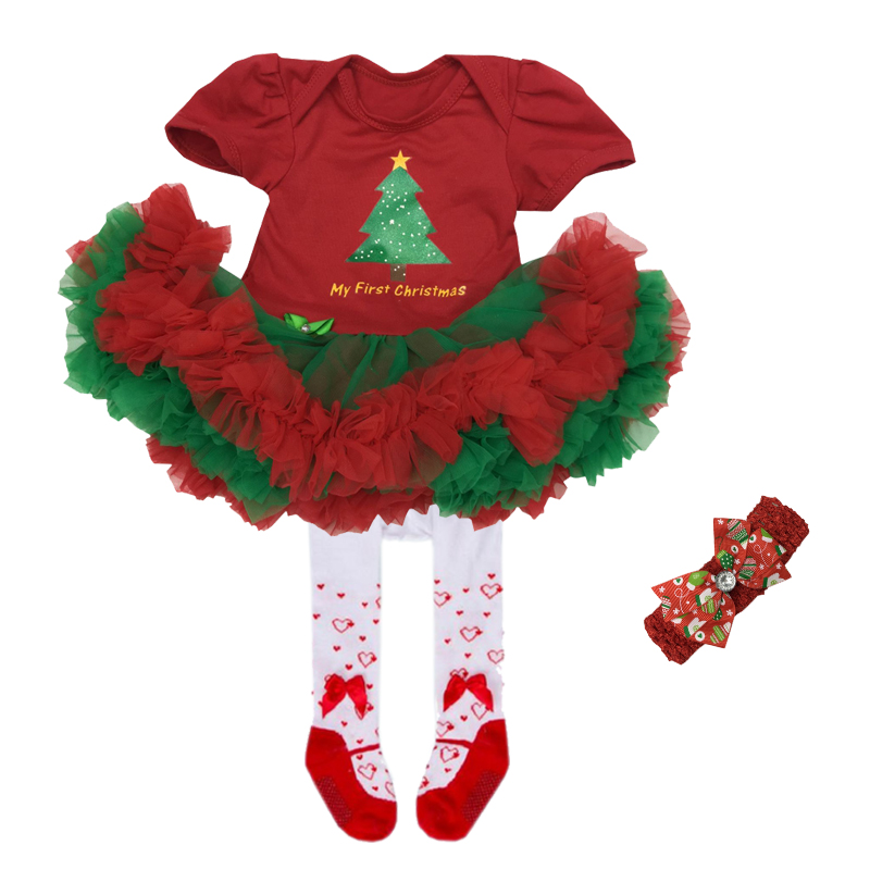 Christmas baby girl clothes infant clothing Suit lace Tutu Romper Dress/Jumpsuit Party Birthday Costumes Vestido Newborn Gifts baby girl infant 3pcs clothing sets tutu romper dress jumpersuit one or two yrs old bebe party birthday suit costumes vestidos