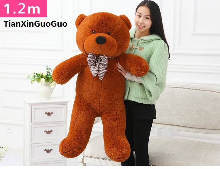 fillings toy dark brown Teddy bear plush toy stuffed bear large 120cm soft doll throw pillow Christmas gift b2800 купить