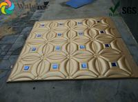 1box 8pcs 3d Leather wall panels with Diamonds soundproof panel wall interior decoration fabric acoustic leather pads