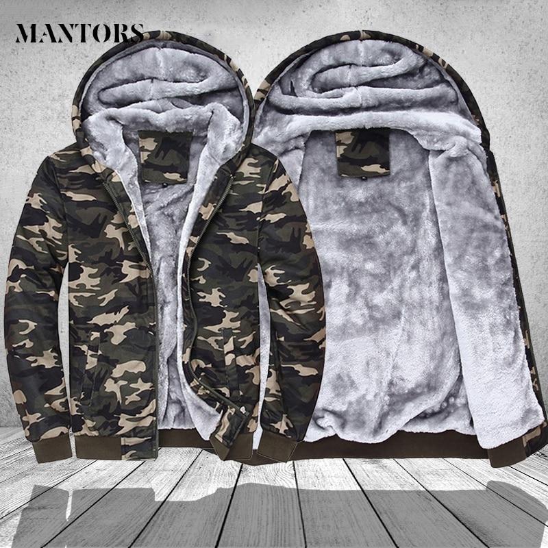 Homens Camuflagem Militar Casacos de Inverno 2018 Jaqueta Com Capuz Casuais  Sportswear Dos Homens Hoodies do 955c9eb5659