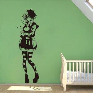 Креативные милые аниме-чулки для девочек, Виниловая наклейка на стену, украшение дома, Настенная Наклейка s # T338