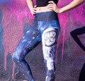 Azul espacio galaxy pantalones gato de formación de yoga deportes running entrenamiento medias elásticas gimnasio leggings de cintura alta de la aptitud para mujer