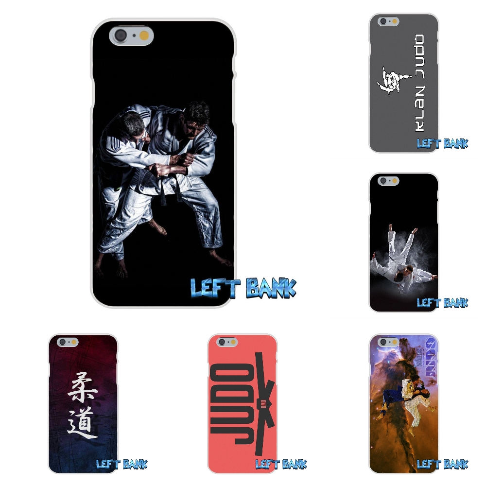 For iPhone 4 4S 5 5S 5C SE 6 6S 7 Plus Fashion Janpan Judo Original Soft Silicone TPU Transparent Cover Case