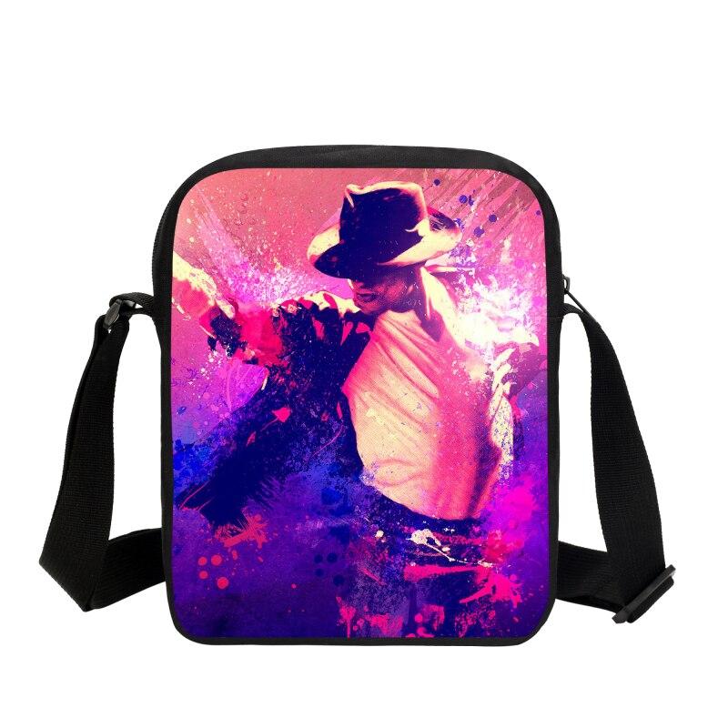 VEEVANV Small Crossbody Bags For Men Women Fashion Michael Jackson Printing 3D  Shoulder Bag Messenger Bags Sling Bag Handbags