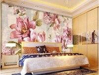 Personnalisé 3D peintures murales, le style Européen dessinés à la main Jasmin papel de parede, salon canapé TV mur chambre fond mur papier