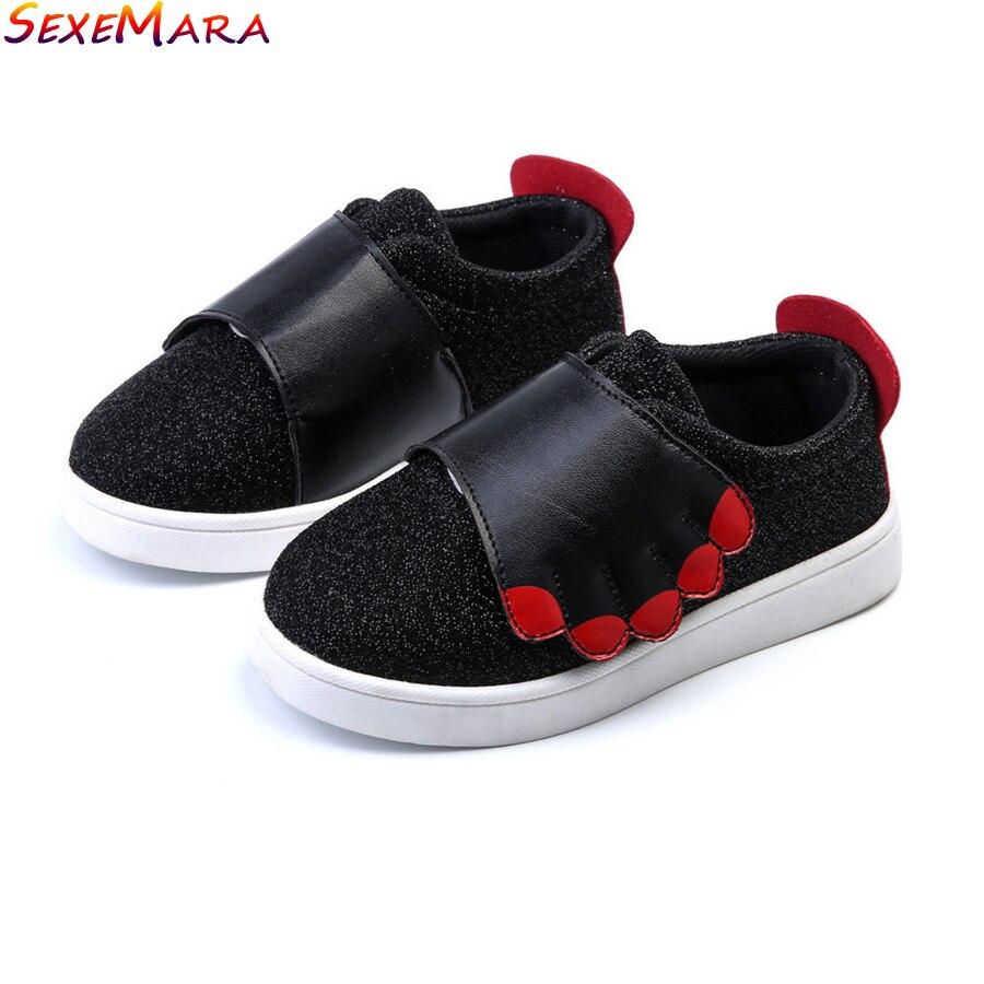 Skate shoes non slip - Children Shoes Spring Autumn Korean Hot Sale Unisex Casual Single Shoes Non Slip Fashion Leather