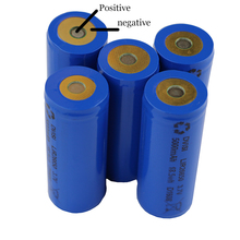 DVISI 10Pcs/lot  3.7V 5000mAh 26650 Rechargeable Batteries Positive Negative in same side with Protection plate Wholesale