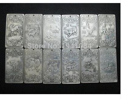 China silver Buddha 12 zodiac coins+charms thangka Tibet and Nepal thangkas COINS 12/pcs Old Tibetan Silver Bronze decoration