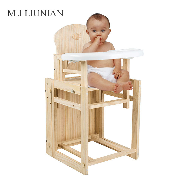 Baby Solid Wood Adjustable Booster Seats Multifunction Table Chair 2 in 1 Children booster seats Portable foldable Kids Seats