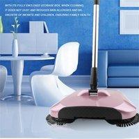 Stainless Steel Sweeping Machine Push Type Magic Broom Dustpan Handle Household Vacuum Cleaner Hand Push Sweeper