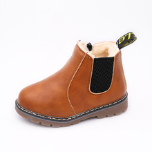 Autumn Winter Hot Sale Boys Martin Boots New Fashion Kids Leather Warm Shoes Girls Zipper Soft Casual Boots Children Shoes недорого