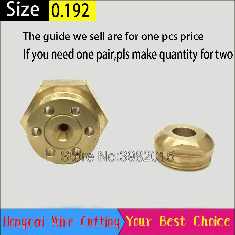 Ruby Wire Guide Water Spray Cooling Plate 0 192mm for Medium Speed WEDM Wire Cut Machine