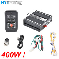 400W Host Loud Sound for Car Warning Police Alarm Siren Horn PA Speaker MIC System Fire Truck Ambulance Emergency
