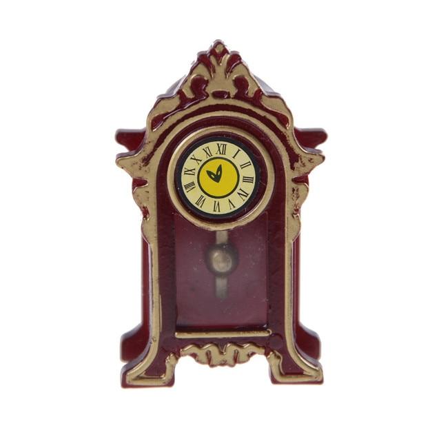 € 1.44 16% de réduction|Nouveau 1:12 Dollhouse Miniature en bois classique  horloge de bureau classique jouets semblant jouer meubles jouets poupée ...