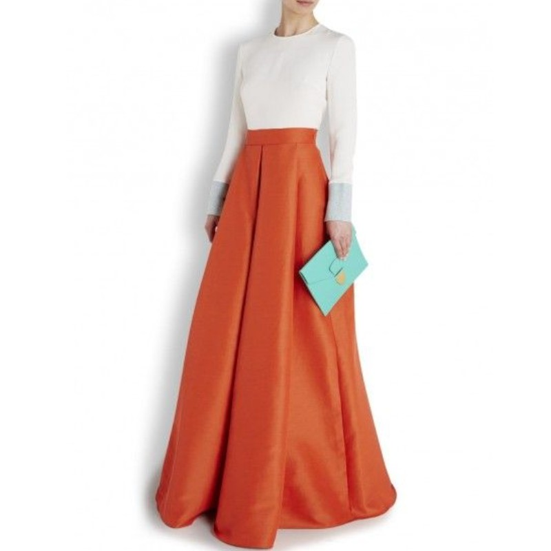 Popular Orange Maxi Skirt-Buy Cheap Orange Maxi Skirt lots from ...