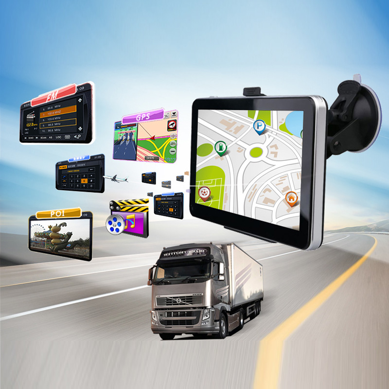 New Car GPS Navigation 7 inch 8GB MP3/MP4 FM 800 x 480 Touch Screen Muti-media player Truck GPS Car navigator mp4 плеер 2015 1 8 8gb mp4 e fm mp3 mp4 64 tf 1000sets new