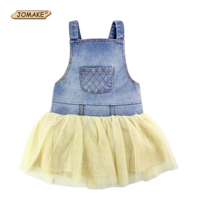 64b06179e3326 US $4.75 5% OFF|Fashion Summer Lace Denim Patch Baby Girl Dress Children  Party Frock Toddler Girl Clothing Kids Princess Dress Tutu Dress Girl-in ...