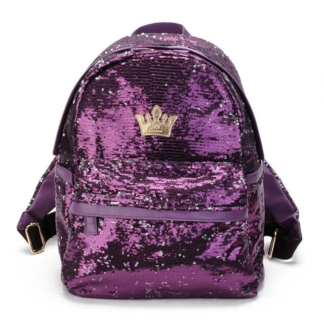 Glitter Backpack Women Sequins Backpacks For Teenage Girls Rucksack Fashion  Female Gold Black School Sequin Bag