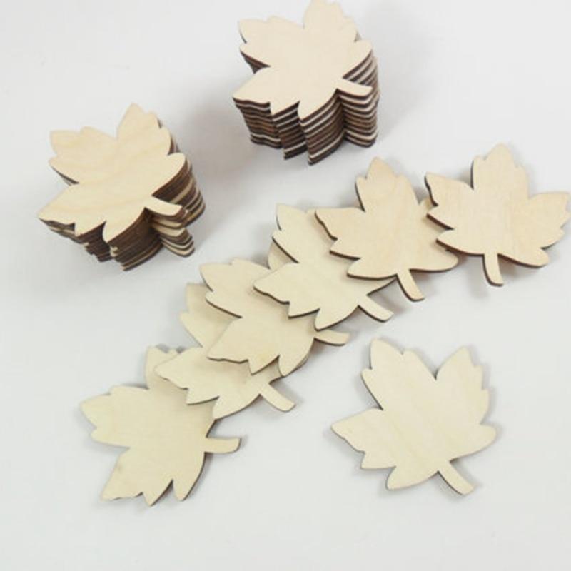 Wood Leaves Maple Leaf Blanks Laser Cut Wood Shapes (1)