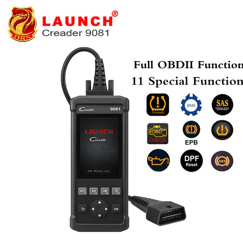 Launch DIY Scanner CReader 9081 Full OBD2 Scanner/Scan Tool Diagnostic OBDII Code Reader+ABS Bleeding+Oil+EPB+BMS+SAS+DPF CR9081 obd2 scanner launch creader 8001 car code reader full obdii eobd auto diagnostic scanner tool with abs srs epb oil service