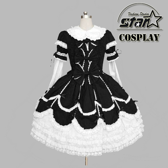 f5d8fbff40714 Special Customized Summer Girls Dress Lolita Costume Chiffon Lace Medieval  Gothic Dress Princess Cosplay Halloween Costumes Kid