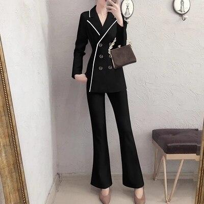 Gamme Petit Femmes breasted Casual De 1 Femelle Deux Mode Nouveau Costume Printemps Haut piece Double Tempérament Pantalon Suit 7Ax0wqR