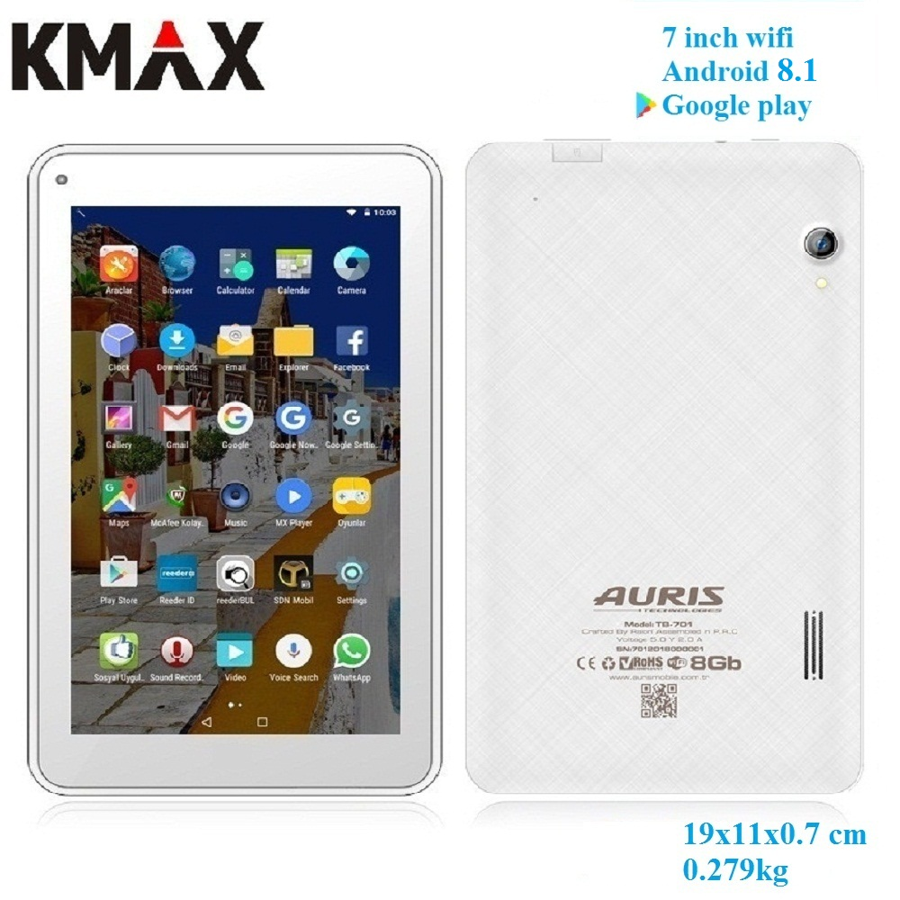 KMAX 7 pulgadas wifi android 8,1 Tablet PC WIFI Quad Core IPS Bluetooth Tarjeta de 32 GB TF Googleplay tabletas 7 8 10 barato de la fábrica venta