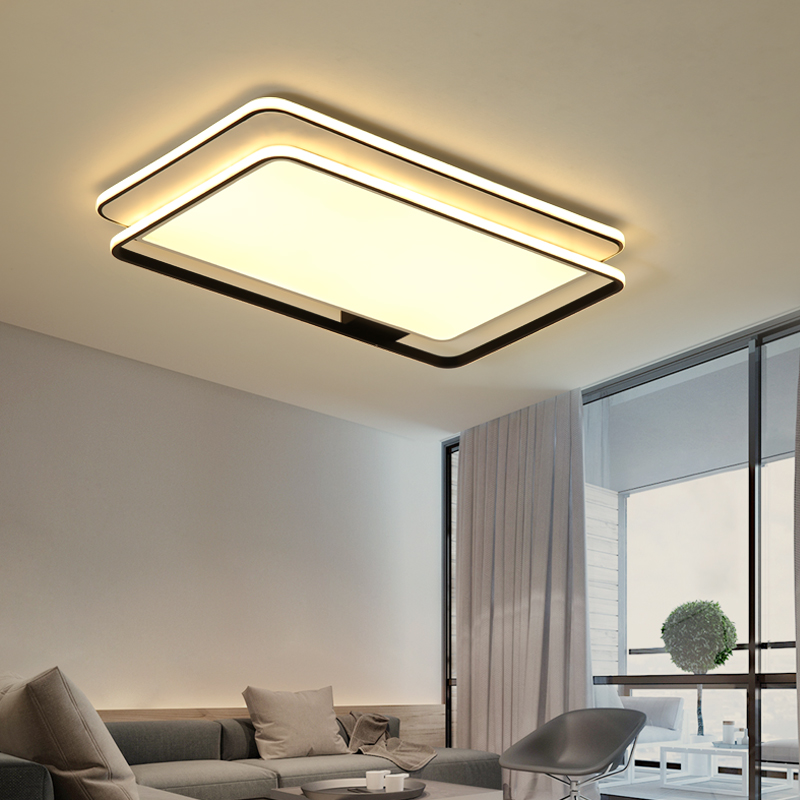 Creative modern led ceiling lamp living room study bedroom ceiling lamp square round surface installation remote control dimming led remote control ceiling light bedroom lamp modern minimalist square living room lamp study restaurant aisle ceiling lamp