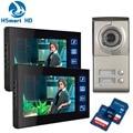 2 Unit 7inch Touch key SD Card video recoding Video Intercom Apartment Door Phone Camera Apartment 2 Unit Intercom Entry System