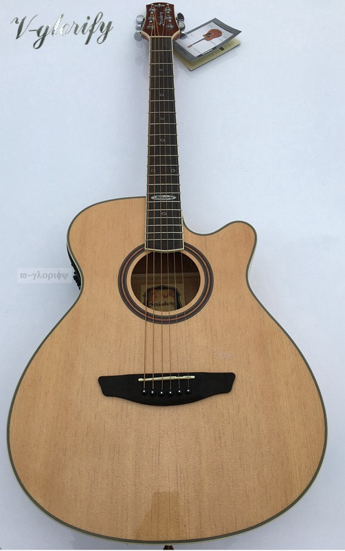 high quality stinber 40inch acoustic guitar with electric free bag free string free shipping in. Black Bedroom Furniture Sets. Home Design Ideas