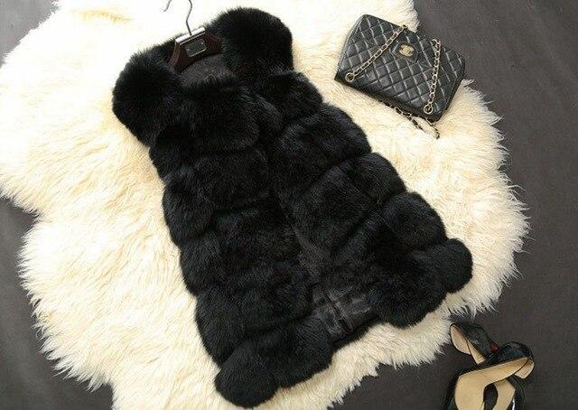 Бесплатная доставка зима женщины меховой жилет искусственный мех лисы пальто женщина плащ мех возлагают куртку женские дамы пальто беременным