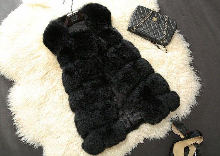 ФОТО Free shipping Winter Women Fur Vest Faux Fox Fur Coat Woman Cloak Fur Vests Jacket Female Ladies Overcoat Maternity