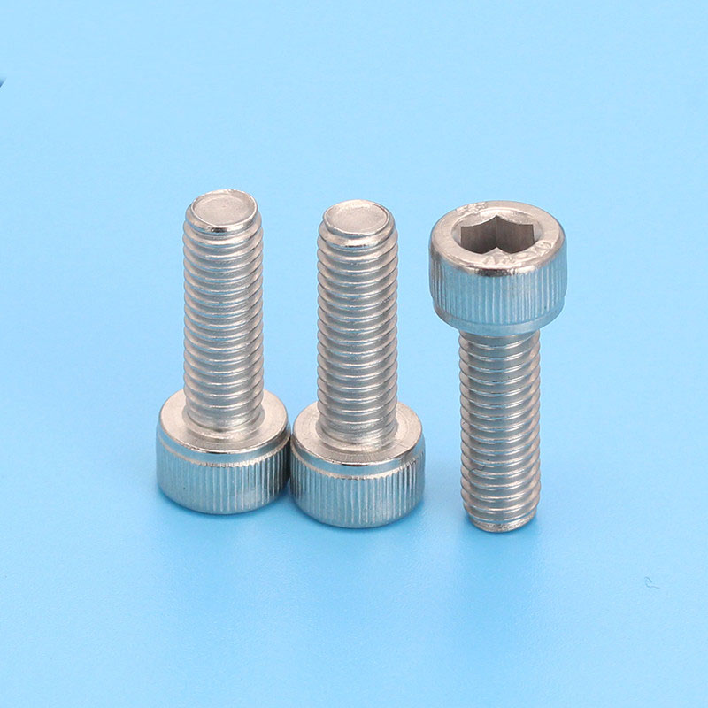 M4 304 stainless steel Allen knurled cylindrical head screws hex socket cup bolt