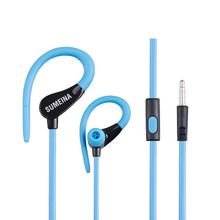 Mambaman SMN-11 Earphones Headphone 3.5mm Stereo Earhook Bass Sound Headset for Running Sport for Xiaomi Samsung iPhone Computer