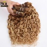 Ombre Hair Bundles Brazilian Curly Hair Weave Highlight Blonde Bundles P27/613 Human Hair 1/3/4 Bundles BOL Remy Hair Extensions
