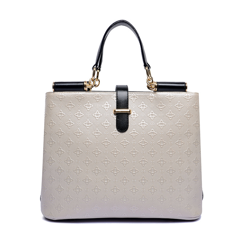 ФОТО 2017 Brands Women PU Leather Handbags Women Vintage Ladies Shoulder High Quality Dress Style Handbag Totes Beige ST2864